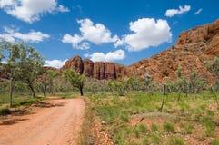 澳洲国家公园西部purnululu的路 库存图片