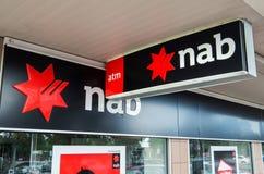 澳洲国民银行的分支在墨尔本 免版税库存照片