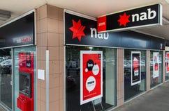 澳洲国民银行的分支在墨尔本 免版税图库摄影