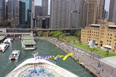 澳洲圆的码头悉尼 库存图片