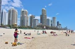 澳洲天堂冲浪者 免版税图库摄影
