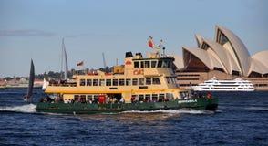 澳洲小船轮渡港口悉尼 免版税库存照片
