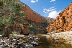 澳洲峡谷ormiston视图 库存照片