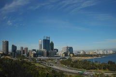 澳洲市全景珀斯视图 免版税库存照片