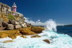 澳洲 悉尼 南顶头灯塔 免版税库存照片