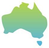 澳洲映射 免版税库存照片