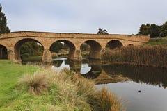 1825年澳洲桥梁完成了证明有罪人工地点里士满塔斯马尼亚岛 库存照片