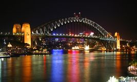 澳洲桥梁港口悉尼 库存照片