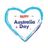 澳洲气球日标志被设置的礼品图标 免版税库存照片