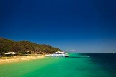澳洲海岸海岛moreton风景视图 免版税库存照片