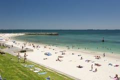 澳洲海滩cottesloe西部的珀斯 库存照片