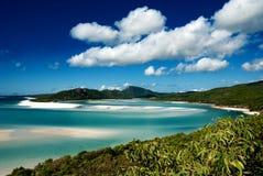 澳洲海滩whitehaven 图库摄影