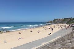 澳洲海滩新堡 免版税库存照片