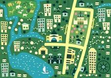 澳洲的无缝的动画片地图 库存图片