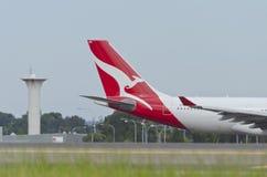 澳洲航空长期尾巴商标 免版税库存图片