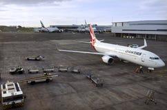 澳洲航空飞机 库存图片
