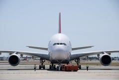 澳洲航空A380珀斯机场 库存照片