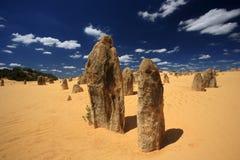 澳洲西方沙漠的石峰 库存图片