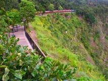 澳洲风景kuranda的铁路 库存照片