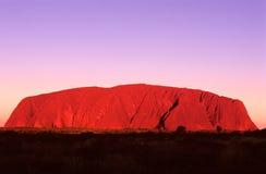 澳洲ayers中央岩石 免版税库存照片