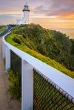 澳洲byron海角最东边的灯塔点 免版税库存图片