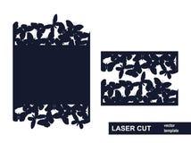 激光从蝴蝶的裁减模板 向量例证