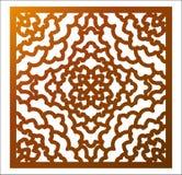 激光切口正方形盘区 与坛场的回纹装饰花卉样式 皇族释放例证