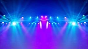 激光发出光线聚光灯阶段 免版税库存图片