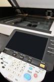 激光影印机的关键董事会按钮 免版税库存照片