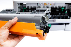 激光打印机的弹药筒 免版税库存照片