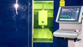 激光机器人metallcutter经营与metall 屏幕显示参量 影视素材