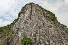 激光菩萨芭达亚-被雕刻的菩萨 免版税库存照片