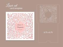 激光裁减邀请卡片模板 免版税库存图片
