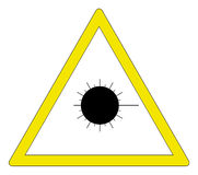 激光警告 库存例证