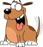 激动的动画片狗 皇族释放例证