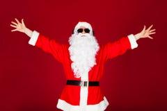 激动的圣诞老人画象  免版税库存图片