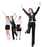 激动的女商人 库存照片