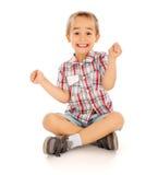 激动的小男孩 免版税图库摄影