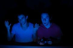 激动的游戏玩家 免版税图库摄影