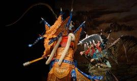 """激发与北京Opera""""杨Family†的妇女将军战斗 免版税库存照片"""