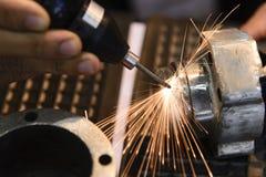 激发光的焊接 免版税库存照片