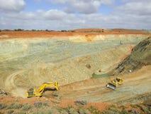 激活露天开采矿-澳大利亚 库存图片