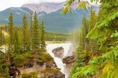瀑布亚伯大西部加拿大不列颠哥伦比亚省 图库摄影