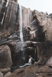 瀑布优胜美地 库存图片