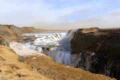 瀑布古佛斯瀑布在冰岛 免版税图库摄影