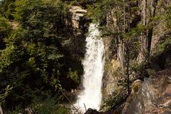 瀑布古铜 威廉斯口岸,智利巴塔哥尼亚 免版税库存照片