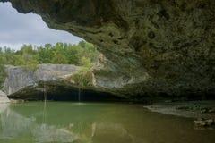瀑布叫Pazinski krov 免版税库存图片