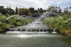 瀑布和喷泉 库存照片