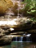 瀑布和小河 库存图片