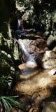 瀑布和河guarne的,antioquia 免版税库存照片